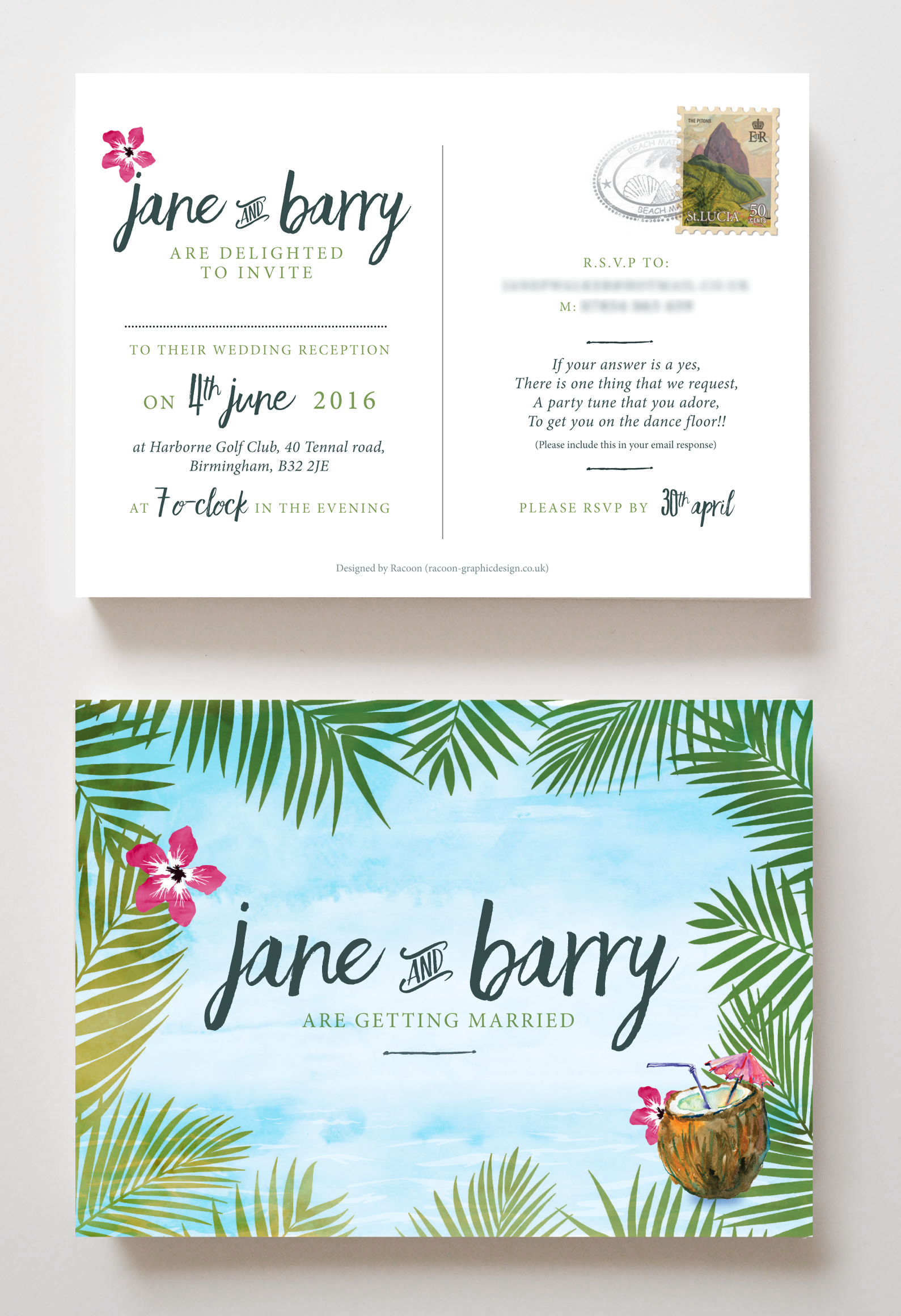 Racoon Graphic Design - Wedding Stationery