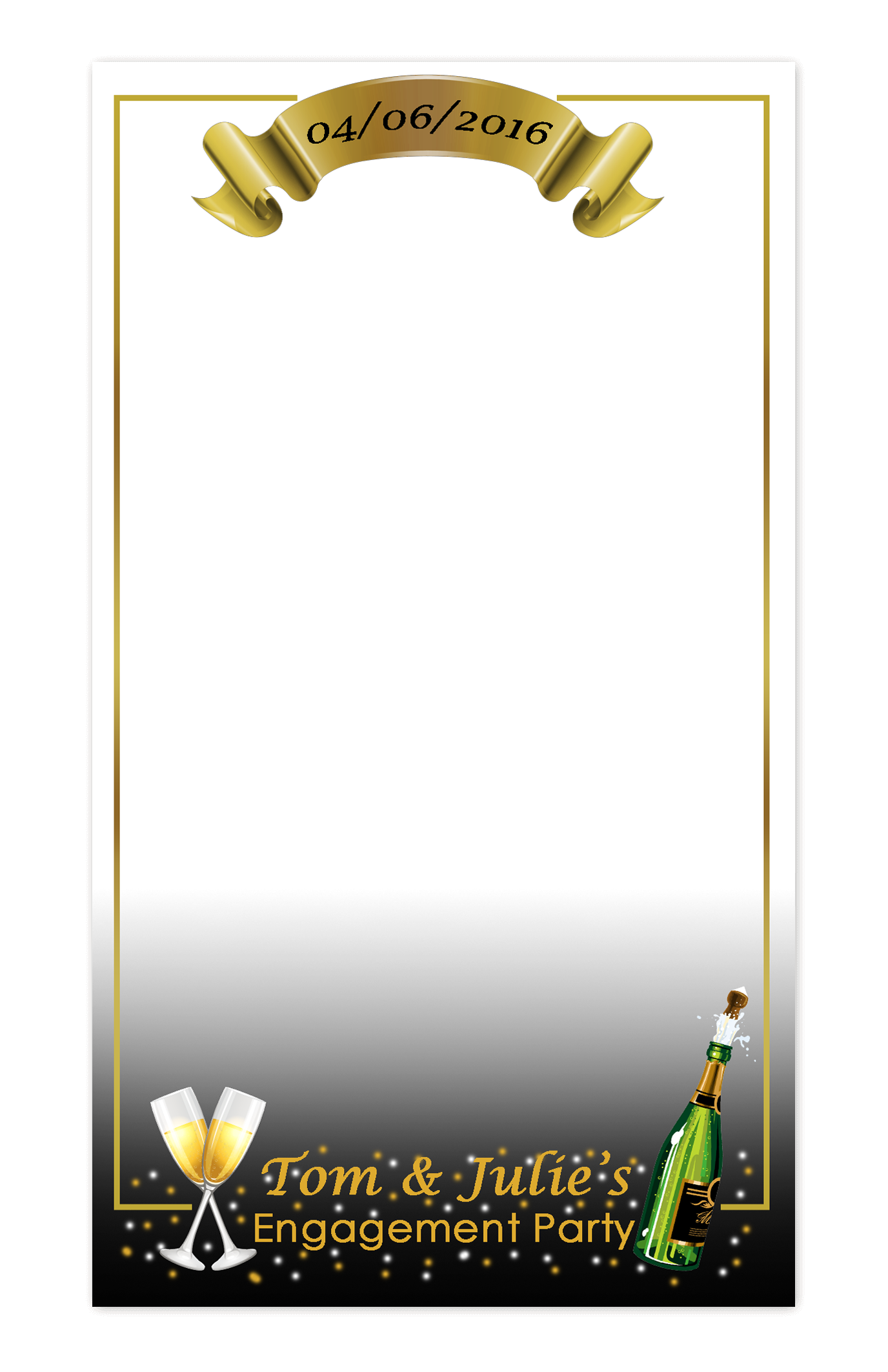 GB Designs - Custom Snapchat Filter: Tom & Julie\'s Engagement Party