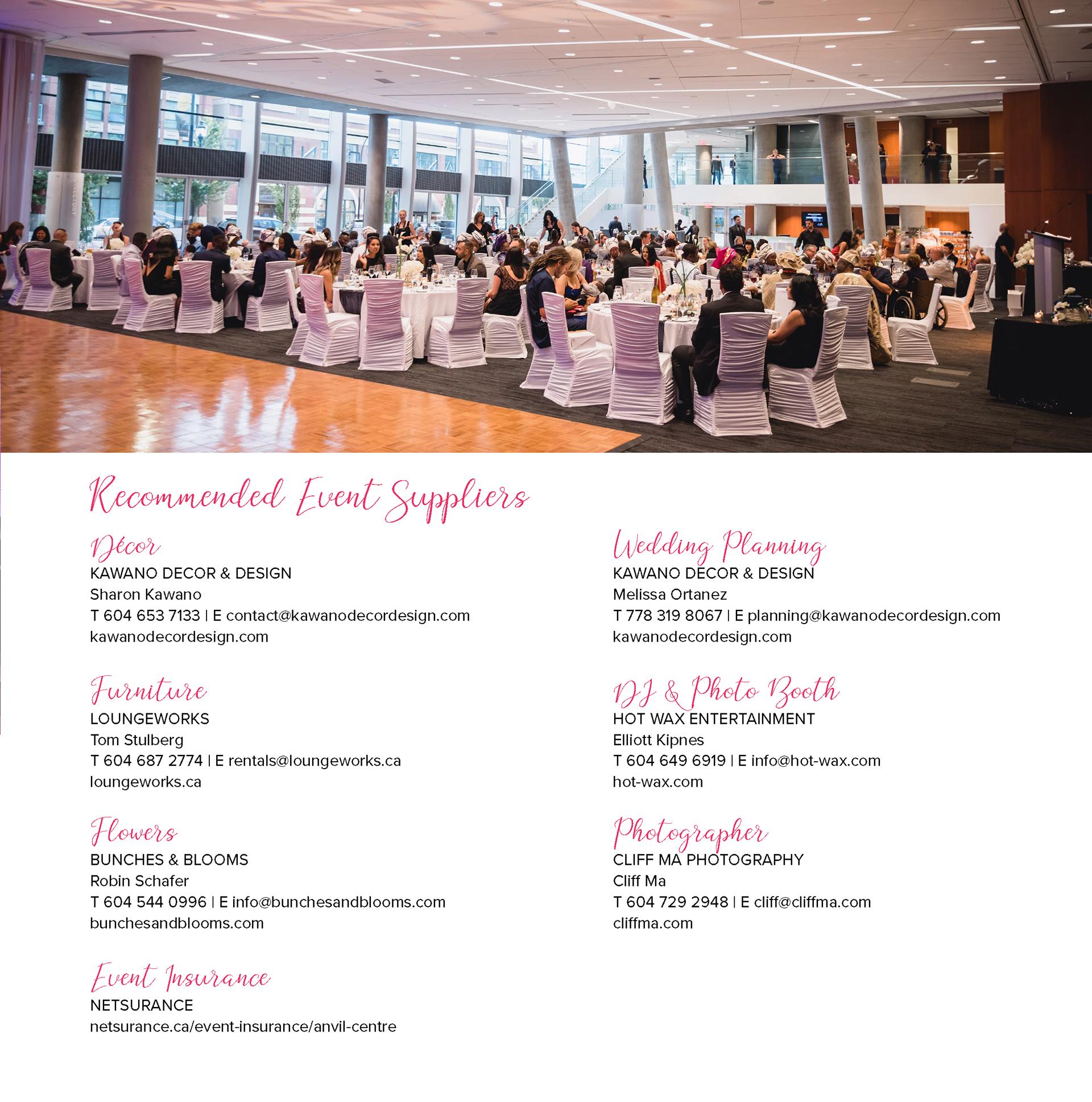 Momo Designphotography Anvil Centre Wedding Brochure
