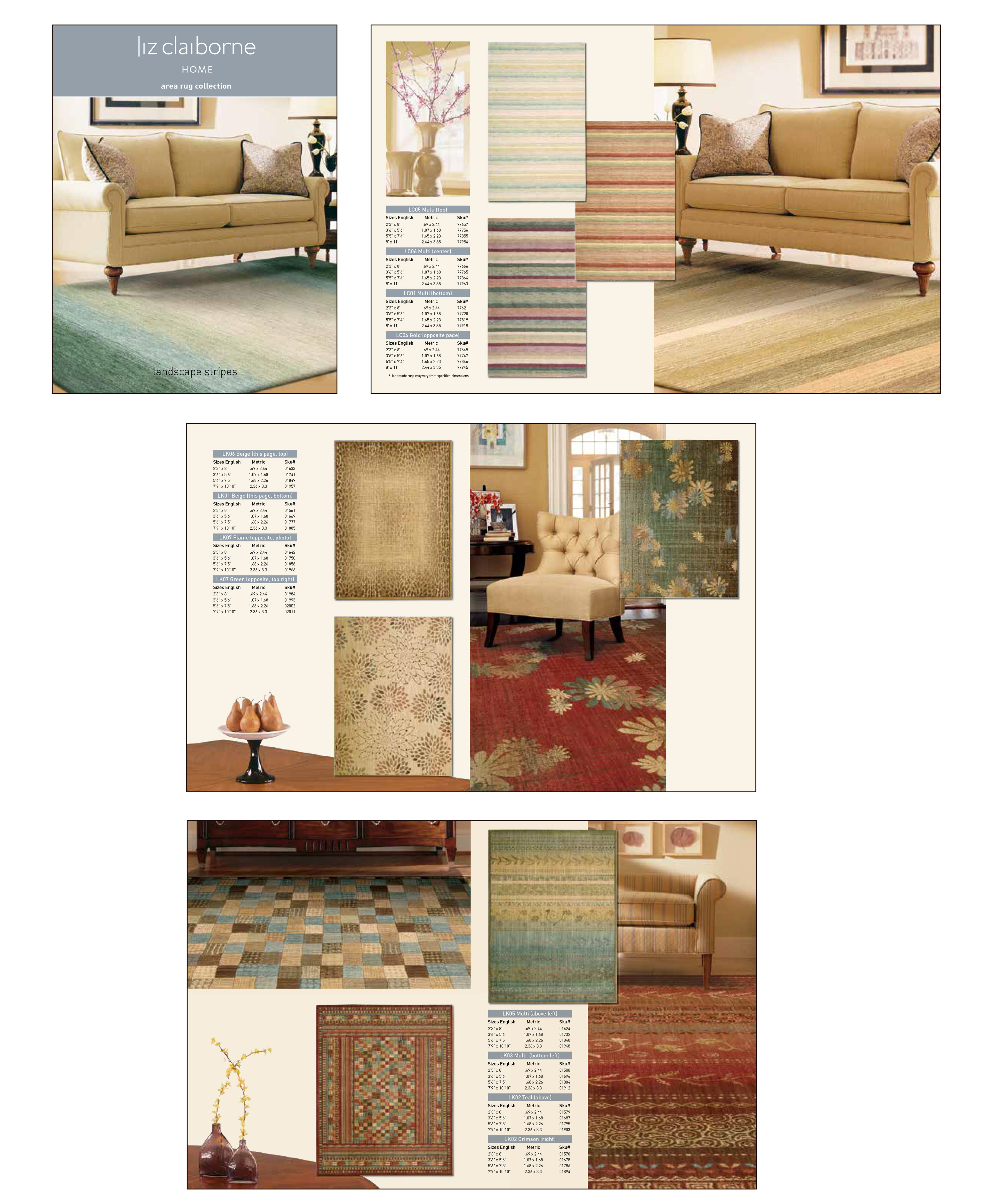These Are Sample Spreads From The Liz Claiborne Home Area Rug Catalogs Were Not Consume Facing Rather Nourison And