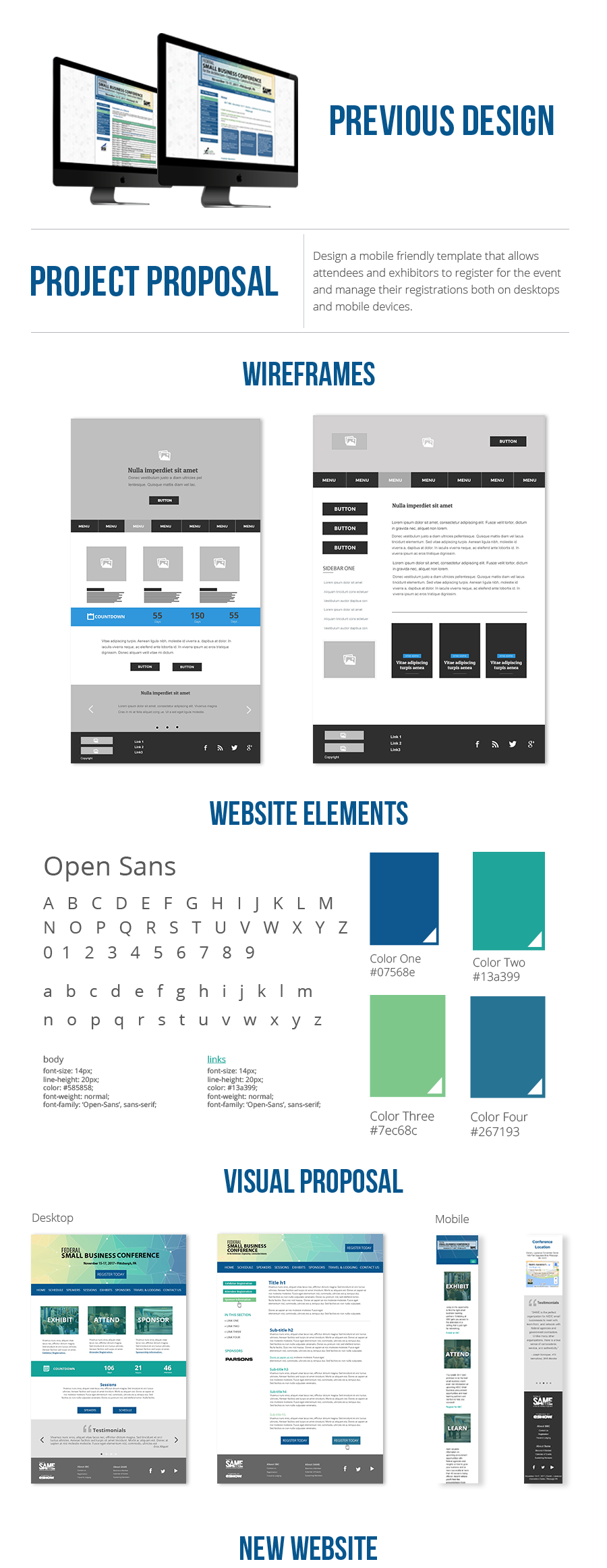 Bruna Siloto Small Business Conference Website Redesign