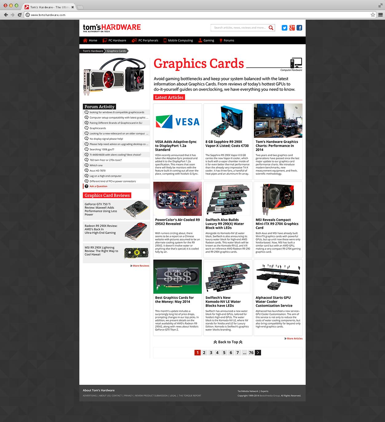 Matt rickard graphic design portfolio toms hardware site redesign tech category landing page solutioingenieria Choice Image