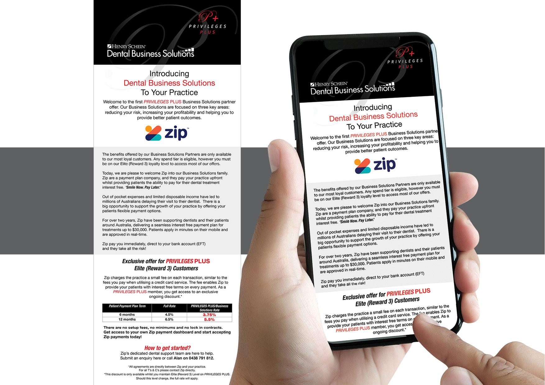 Henry Schein Halas Loyalty Rewards Program. Logo, presentation folder, information card, monthly EDM, gift catalogue.