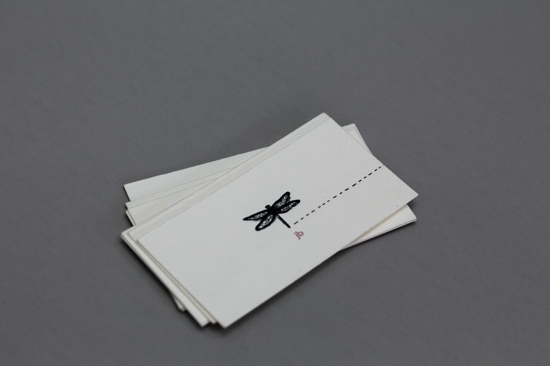 Joanna Bauer - letterpress business card