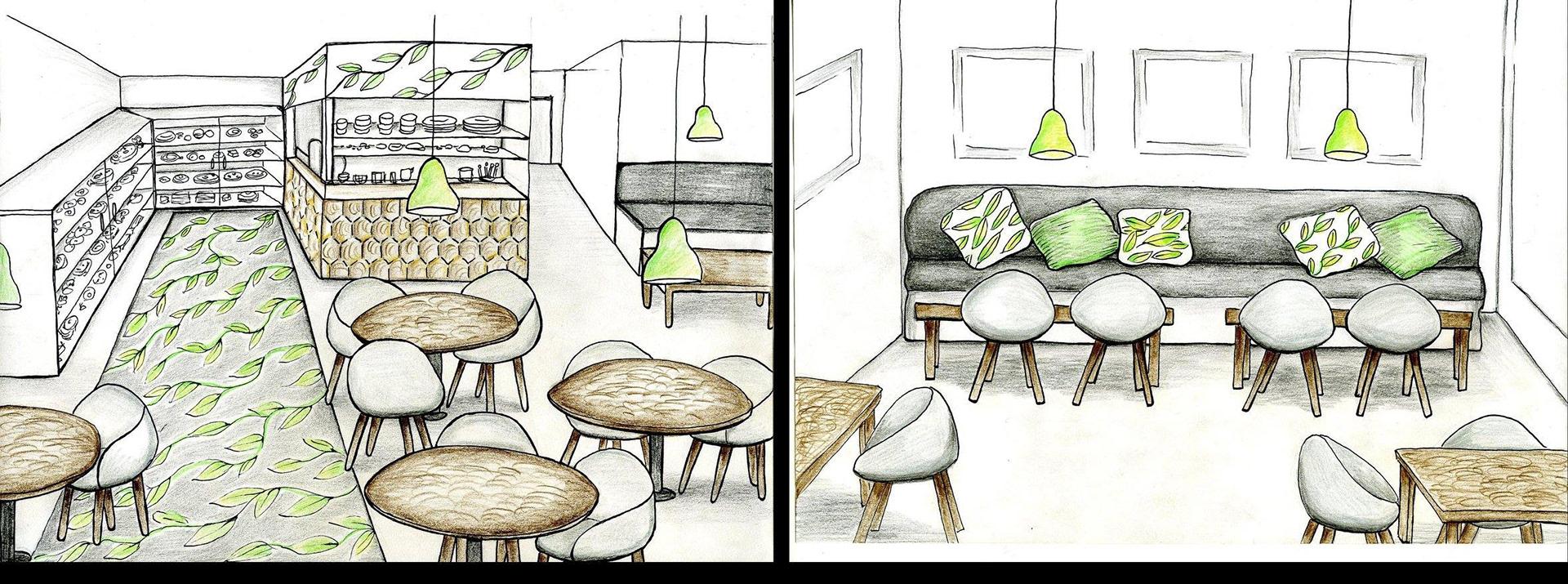 Jenna Pyorala Interior Design Concept For A Cafe