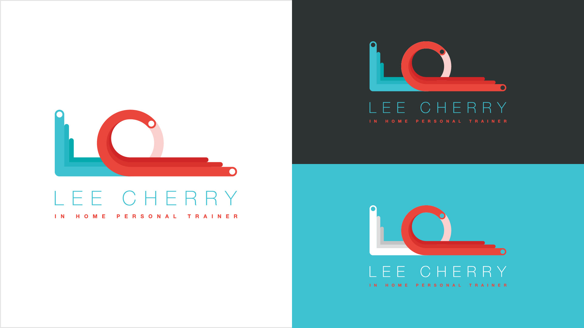 danimal design dan allan lee cherry personal trainer logo design