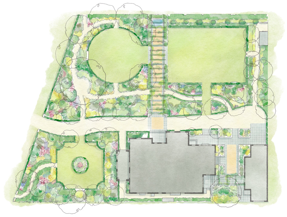 House Garden Map >> Allison Langton Illustrated Garden Maps