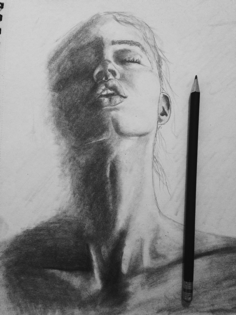 This Sketch Was Done In Pencil And Highlights Dramatic Lighting From The Reference Photo Used I Enjoy Excel Drawing Shadowing Of