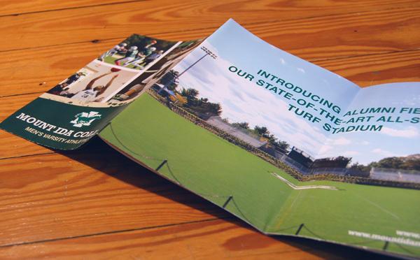 chris fotino fold out reversible mount ida athletics brochure