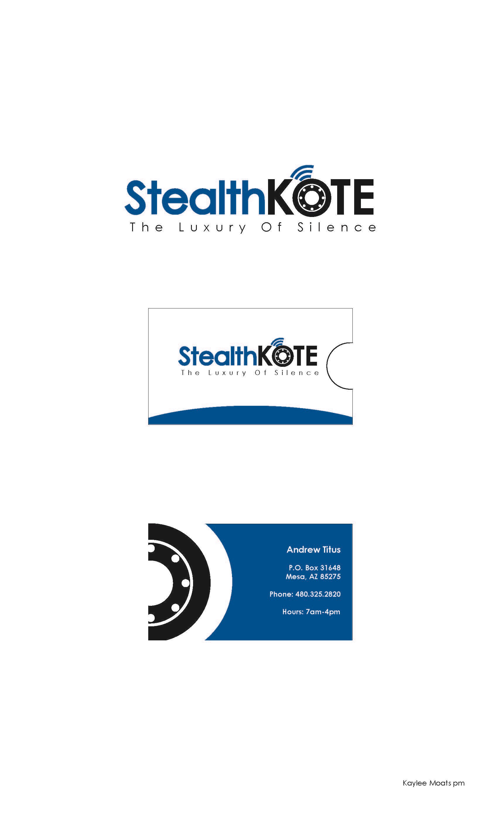 Kaylee Moats - Stealth Kote Logo & Business Card Concepts