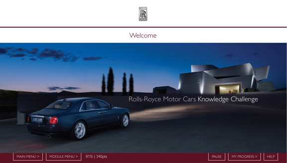 Smcdesign Creative - Rolls-Royce Brand Knowledge eLearning