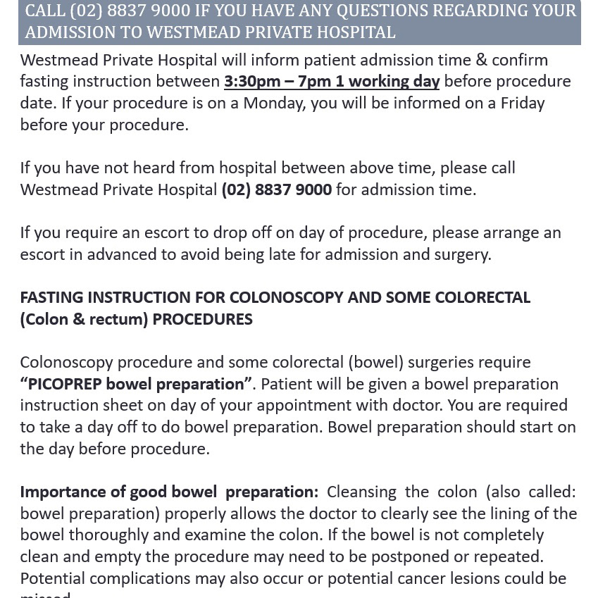 Dr James Toh Sydney Colorectal Surgeon Admission To Westmead
