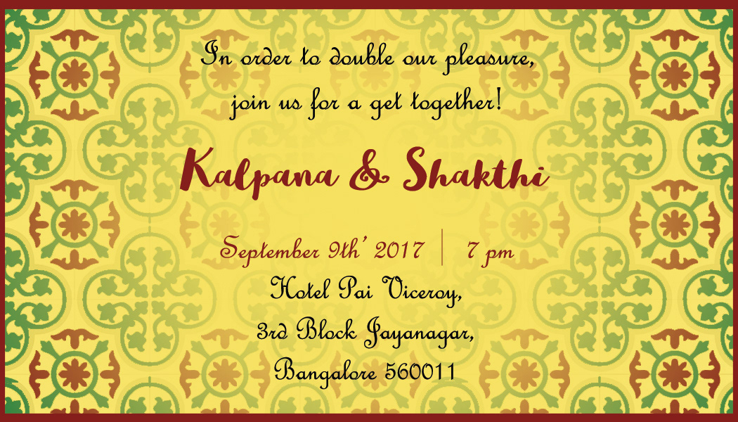 Culture curry creative invitations chettinad south indian the couple caricature with the traditional outfits add a sense of character to the whole card and also depict a part of their wedding stopboris Images
