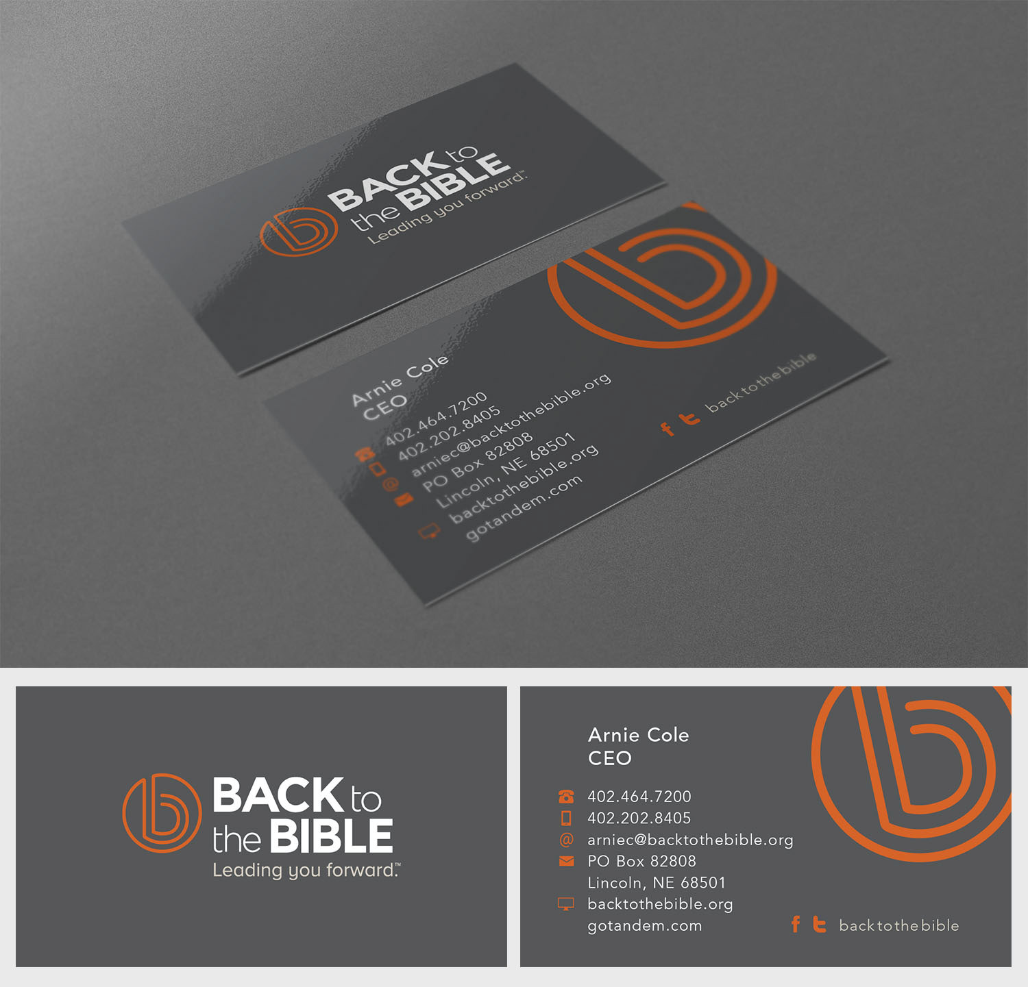 Simpatico by Designs - Back to the Bible Business Cards
