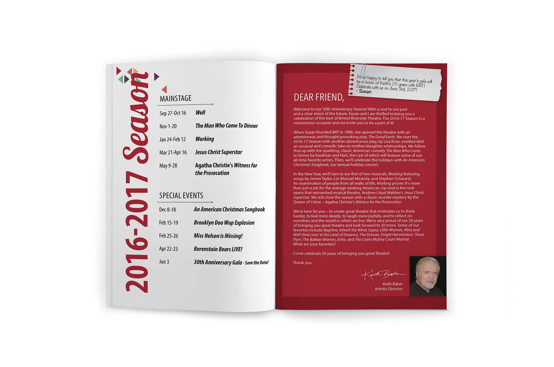 Brandy Stewart\'s Portfolio - 2016-2017 season brochure and show artwork