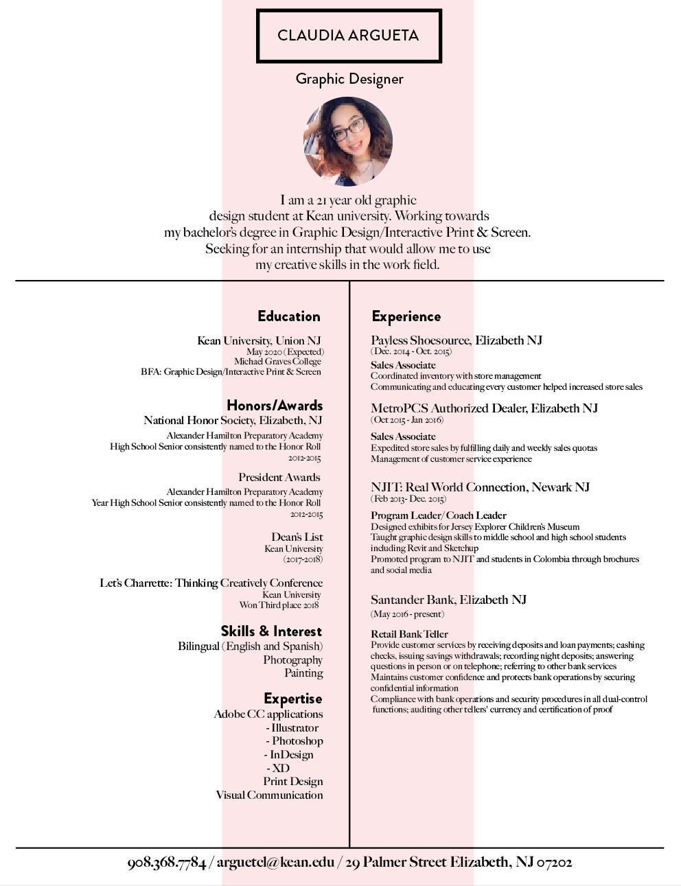 The Honor List 2020.Claudia Argueta Resume