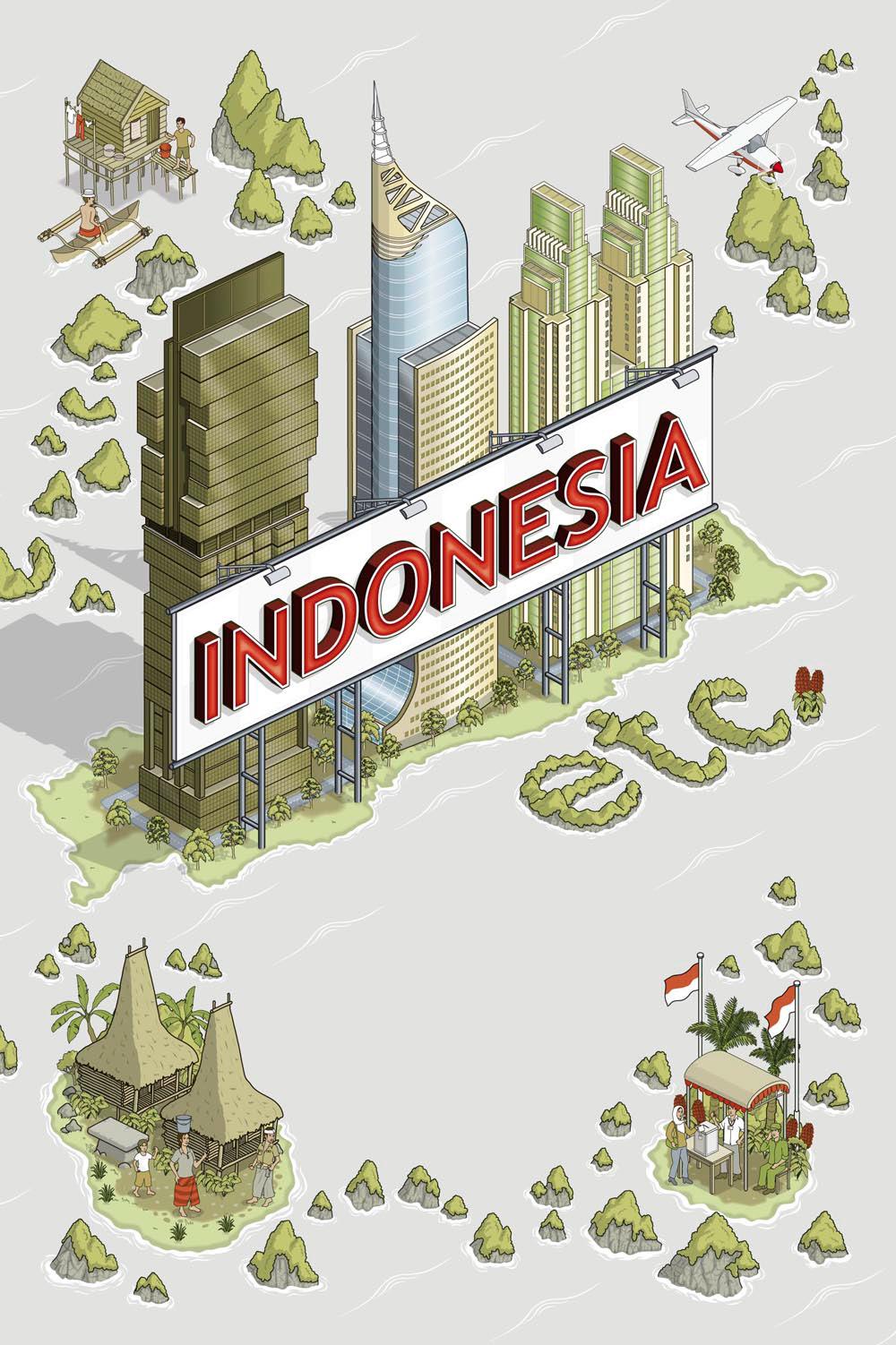 rod hunt illustration studio illustration and map design portfolios for advertising design digital media and publishing indonesia etc book cover