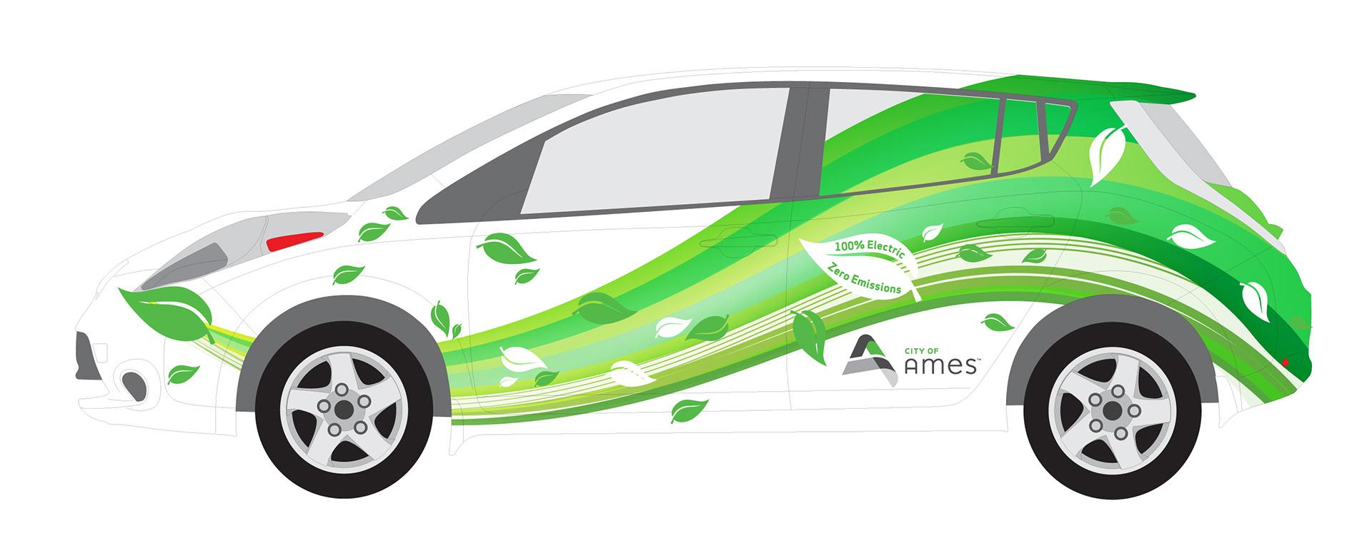Nissan Iowa City >> Derek Zarn - Nissan Leaf Electric Car Wrap