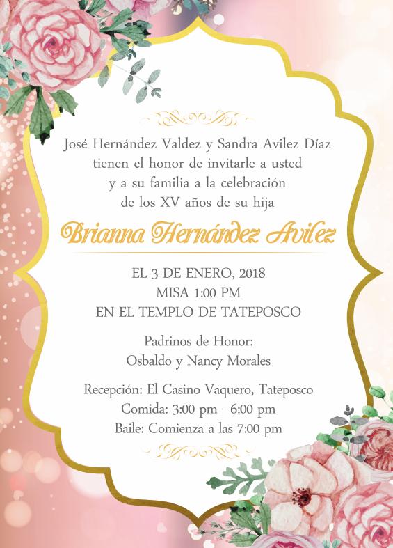 joselyn rendon xv invitations