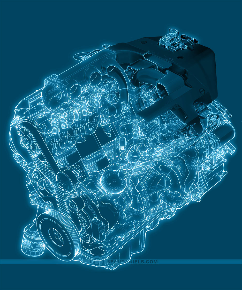 Technical illustration beau and alan daniels generic car engines blueprint style gneric car cutaway engi malvernweather Choice Image