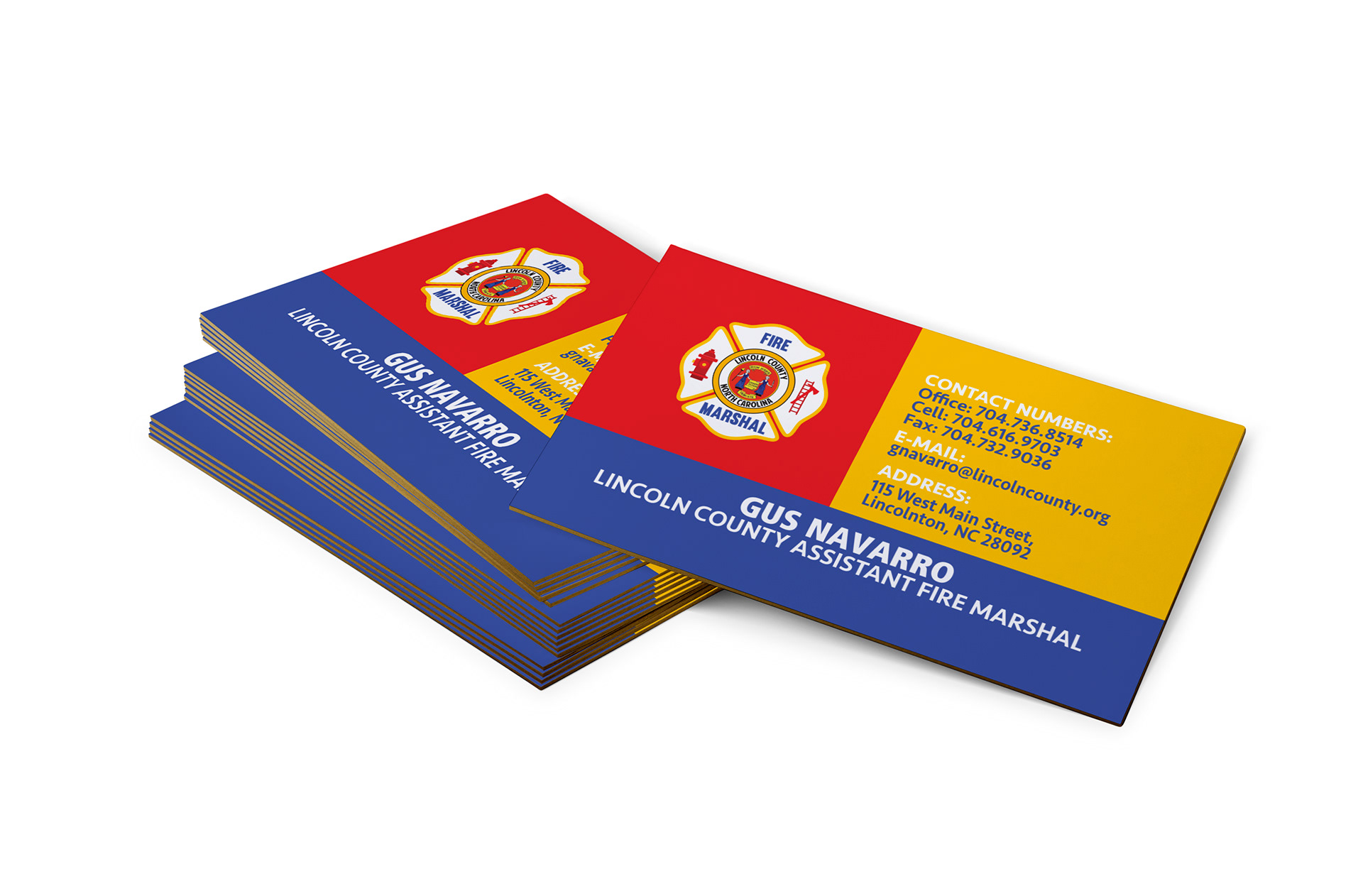 Candra Marshall Lincoln County Fire Department Business Cards