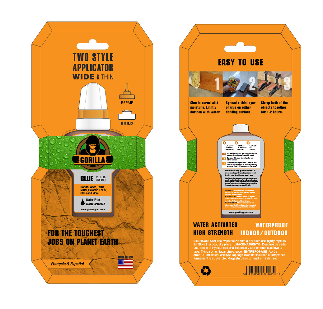 Mason Ping Graphic Design - Packaging Redesign - Gorilla Glue