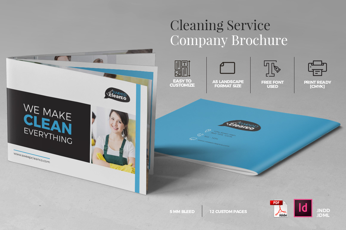 rian rahardi cleaning service brochure a5 landscape